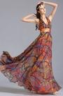 eDressit Plunging Halter Neck Printed Dress Holiday Dress (00155310)