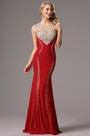 Gorgeous Red Formal Gown with Beaded Details (36161902)