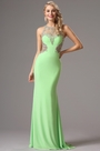 Sleeveless Light Green Gown with Fully Beaded Bodice (36160704)
