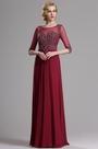 eDressit Burgundy Half Sleeves Beaded Evening Prom Dress(36163817)
