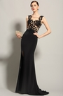 eDressit Sleeveless Slit Black Evening Dress Formal Gown (02153400)