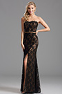 Simple Elegant Overlace Slit Bridesmaid Dress Evening Dress (X07151220-3)