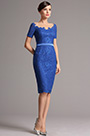 Short Sleeves Royal Blue Lace Mother of the Bride Dress (26162005)