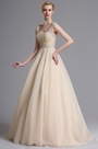 eDressit Beige Lace Appliques Sweeping Prom Evening Dress (02164714)