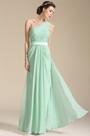 One Shoulder Mint  Bridesmaid Dress Evening Dress (07154104)