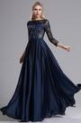 eDressit Blue Lattice 3/4 Sleeves Mother of the Bride Dress (26162805)