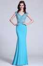 eDressit Elegant Cap Sleeves Beaded Blue Evening Gown (C36152005)