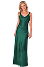 V Cut Neck Green Evening Dress Formal Dress (H00290103-3)