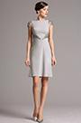 Gris Vestido para Madre de Novia de Moda Mangas Casquillo (03160908)