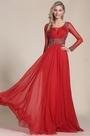 eDressit Long Sleeves Beaded Bodice Red Prom Dress (C36150602)