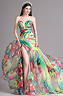 eDressit Rainbow Strapless Sweetheart Floral Printed Summer Dress (X00120537)
