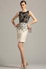Stylish Sleeveless Short Black Cocktail Dress Day Dress (03150700)