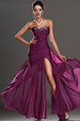 Formal Purple High Slit Evening Dress Prom Dress (H00134706-1)