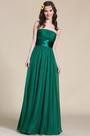 Strapless Dark Green Bridesmaid Dress Evening Gown (07151404)
