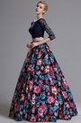 eDressit Two-piece 3/4 Sleeves Floral Prom Dress (02164368)
