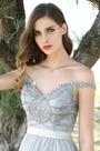 Elegant A Line Off Shoulder V Cut Evening Dress Formal Dress (00160708)