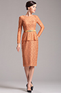 Stylish Long Sleeves Lace Orange Mother of the Bride Dress (X26150310)