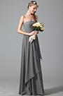 Vestido para Dama de Honor Corpiño Plisado Sin Tirante(07156308)