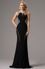 eDressit Black Formal Gown with Beaded Plunging Back (36160300)