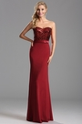 Strapless Sweetheart Red Sequin Evening Formal Gown (X07160217)