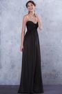 Strapless Sweetheart Neck Black Bridesmaid Dress Evening Dress (07156200)