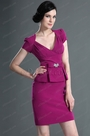 V Neck Hot Pink Mother of the Bride Dress (H26126312)