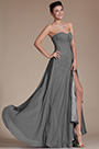 Strapless Sweetheart Slit Grey Bridesmaid Dress (07156008)