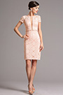 Pink Lace Short Sleeves Mother of the Bride Dress (26161301)