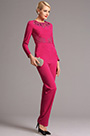 eDressit Hot Pink Hollowed Jewel Neck Long Sleeves Jumpsuit (03160712)