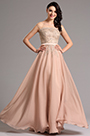 A Line Capped Sleeves Applique Formal Dress Prom Gown (00160346)
