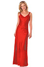 V Cut Red Formal Dress Evening Dress (H00290103-2)