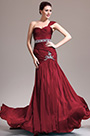 eDressit New One Shoulder Lovely Burgundy Evening Dress (H02132905)