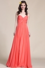 Strapless Sweetheart Coral Bridesmaid Dress Evening Dress (07153857)