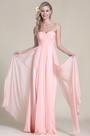 Elegant Strapless Sweetheart Pink Evening Dress (07153301)