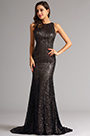 Graceful Long Sequin Coffee Formal Dress Evening Gown (X00155220-1)