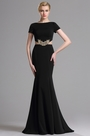 eDressit Black Short Sleeves Mermaid Prom Evening Dress (00163300)