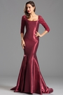 Graceful Long Trumpet Bugundy Formal Dress Evening Gown (X26151617-4)