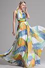 Halter Neck Printed BOHO Vacation Formal Dress (X07153947)