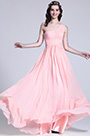 Pleated One Shoulder Pink Bridesmaid Dress Evening Dress (07151301)