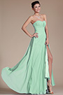Strapless Sweetheart Slit Mint Bridesmaid Dress Formal Dress (07156004)