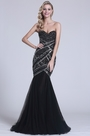 Gorgeous Strapless Beaded Black Evening Dress (C36150200)