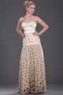 Strapless Sweetheart Polka Dot Evening Dress Formal Dress (H00106814)