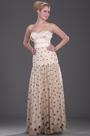 Strapless Sweetheart Polka Dot Evening Dress Formal Dress (H01091007)