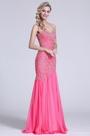 Trägerlos Süß Herz Heiß Rosa Perlen Prom Kleid (C36151412)