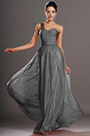 Elegant One Shoulder Grey Evening Dress Prom Dress (H00132402)