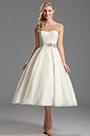 Illusion Sweetheart Neckline Tea Length Wedding Dress (X01150113)