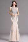 Carlyna Beige Sweetheart Beaded Sleeveless Formal Prom Dress (E60214)