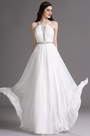 eDressit White Halter Beaded Wedding Gown with Embroidery (01161707)