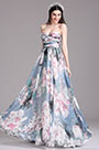 eDressit Printed Floral Strapless Pleated Evening Dress (X07154405)