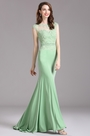 Carlyna Green Lace Beaded Mermaid Prom Dress (E62604)